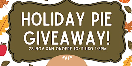 Holiday Pie Giveaway USO tickets