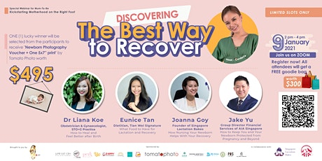 [Webinar]Discovering the Best Way to Recover During Your Confinement Period tickets