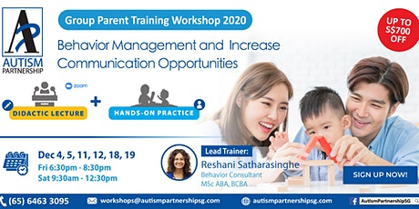 Autism Partnership SG:Parent Training for Managing Behavior & Communication tickets