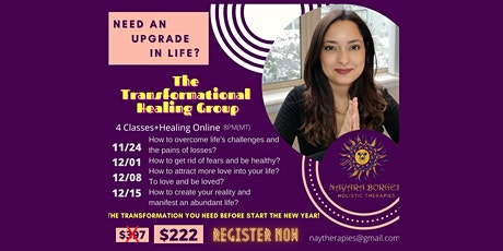 The Transformational Healing Group tickets