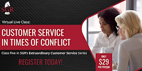 Customer Service Series 2021(I) - Customer Service in Times of Conflict entradas