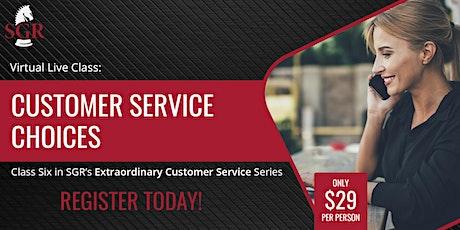 Customer Service Series 2021 (I) - Customer Service Strategies tickets
