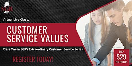 Customer Service Series 2021 (III) - Customer Service Values tickets