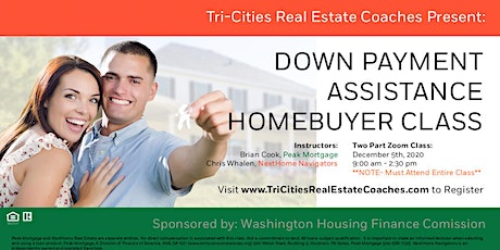 Down Payment Assistance Home Buyer Class (ZOOM) tickets