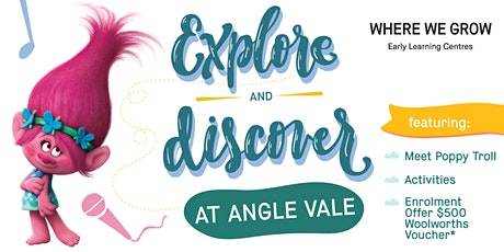 Explore and Discover our Angle Vale Centre with Princess Poppy Troll! tickets