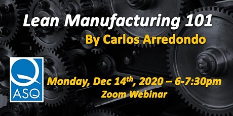 Lean Manufacturing 101 tickets