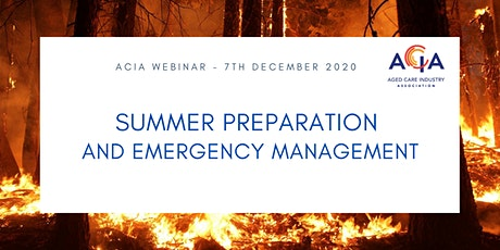 Summer Preparation and Emergency Management tickets