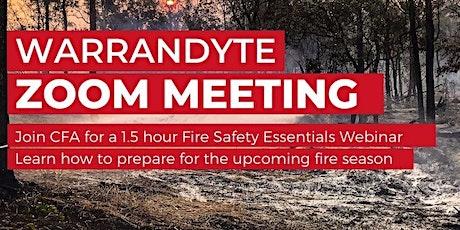 Warrandyte Bushfire Information Session - Fire Safety Essentials tickets