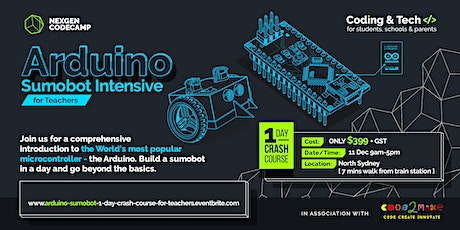 Arduino Sumobot Intensive 1 Day Crash Course for Teachers tickets