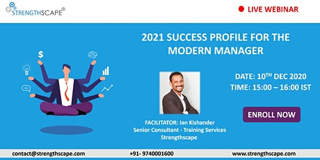 [Webinar] 2021 Success Profile for The Modern Manager tickets