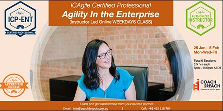 ICAgile Certified Professional in Agility In The Enterprise(ICP-ENT) tickets