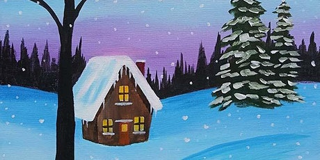 """Paint and Sip - """"Cabin in the Snow"""" - Hilton Gaslamp tickets"""