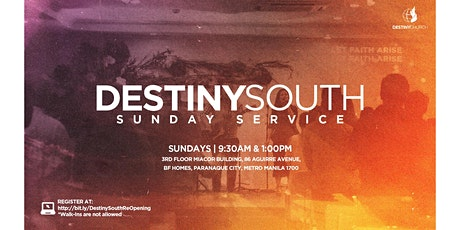 Destiny South Sunday Service (9:30 AM) tickets