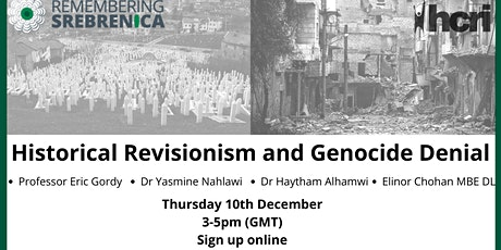 Historical Revisionism and Genocide Denial tickets