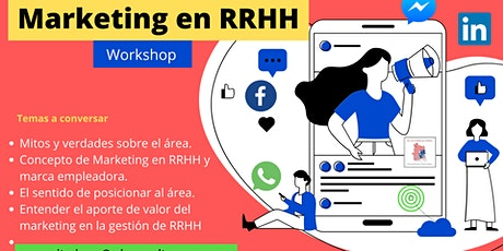 Workshop de Marketing en RRHH a distancia entradas