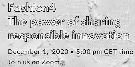 SMART VOICES 15: Fashion4 - The power of sharing responsible innovation tickets