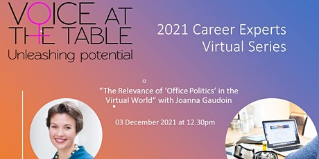 The Relevance of 'Office Politics' in the Virtual World tickets