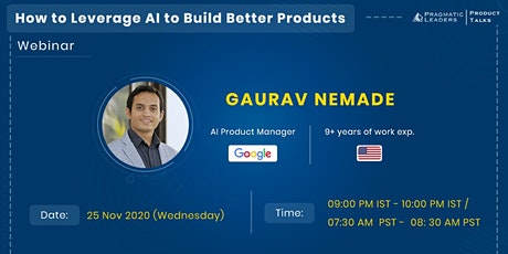 How to Leverage Artificial Intelligence to Build Better Products tickets
