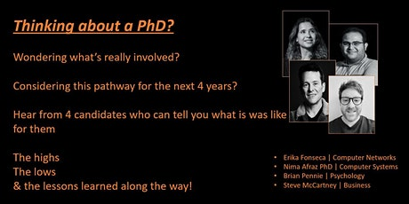 Thinking about a PhD?? Curious about what is really involved? tickets