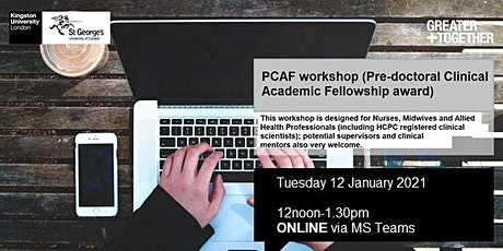 PCAF workshop (Pre-doctoral Clinical Academic Fellowship award) tickets