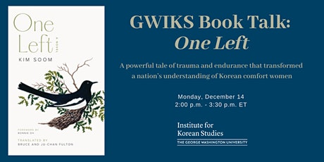 GWIKS Book Talk: One Left tickets