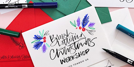 Tombow Brush Lettering Christmas Workshop with Illyboo Designs tickets