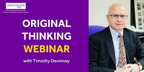 Original Thinking Webinar with Timothy Devinney tickets