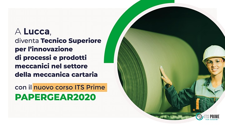 Immagine ITS Prime-Tech Academy: Open day online corso PAPERGEAR2020