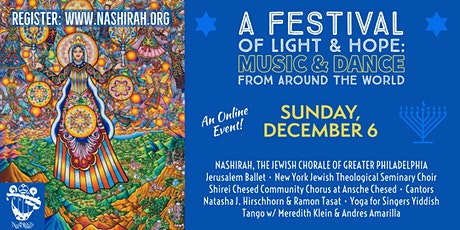 A Festival of Light & Hope: Music & Dance from Around the World (Online) tickets