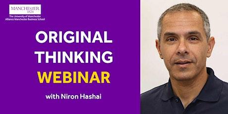 Original Thinking Webinar - Niron Hashai tickets