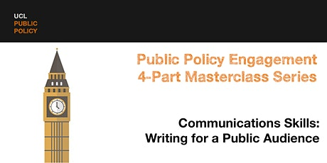 Masterclass Part 4b: Communications Skills - Writing for a public audience tickets