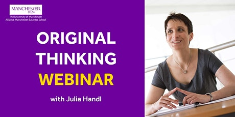 Original Thinking Webinar - Julia Handl ingressos