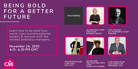 Being Bold for a Better Future tickets
