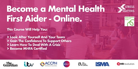 Mental Health First Aid Course | Stress Matters (MHFA England Accredited) tickets