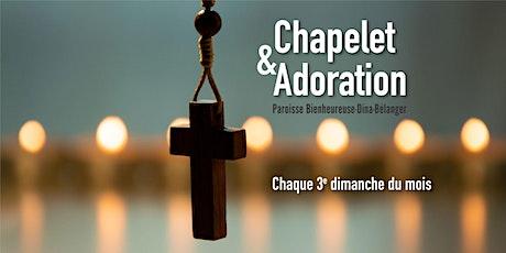 Chapelet et adoration - Dimanche 17 janvier 2021 billets