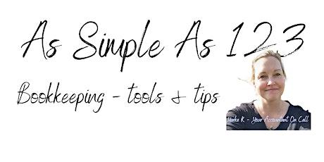 As Simple As 123 - Bookkeeping workshop tickets
