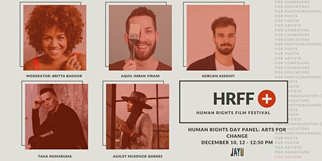 HRFF+ HUMAN RIGHTS DAY PANEL: Arts for Change tickets