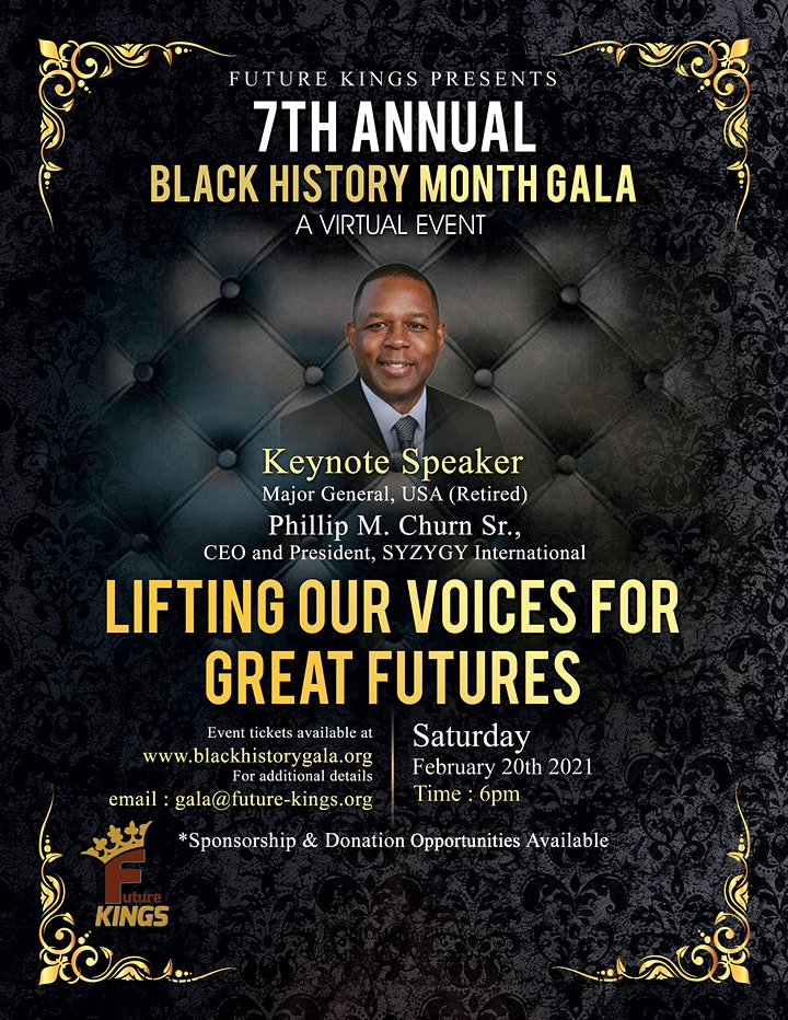 Future Kings Present 7th Annual Black History Month Gala	A Virtual Event image