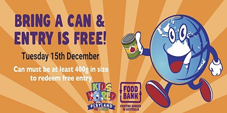 Free Entry at Kids World Playland for Foodbank NSW/ACT tickets