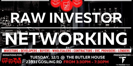 RAW INVESTOR NETWORKING tickets