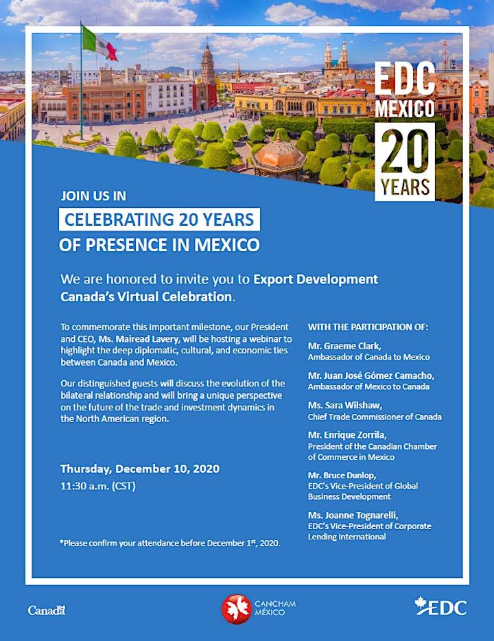 EDC Celebrating 20 years of presence in Mexico image