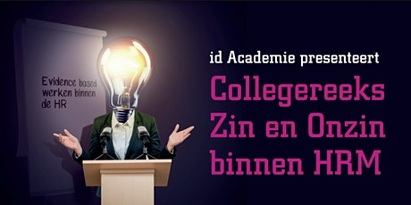 Zin en onzin in Human Resource Management tickets