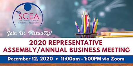The SCEA 2020 Representative Assembly/Annual Business Meeting tickets
