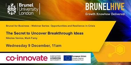 Brunel for Business - The Secret to Uncover Breakthrough Ideas tickets