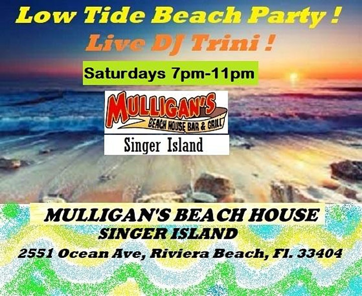 FREE ~ LOW TIDE BEACH PARTY ft/ DJ TRINI ! image