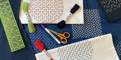Hitomezashi Sashiko - stitch a tote bag (Online class) tickets