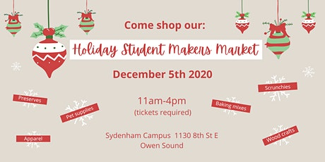 Holiday Student Makers Market tickets
