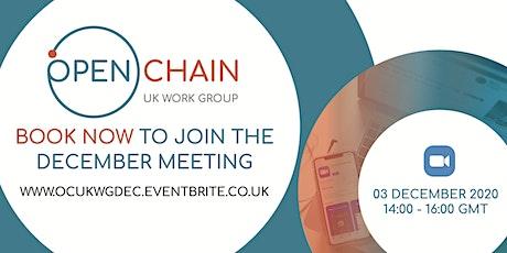 OpenChain UK Work Group December Meeting tickets