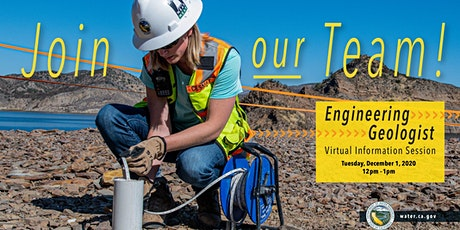 Department of Water Resources Engineering Geologist Information Session tickets