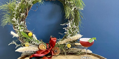 Winter Wreath Workshop at 8th Day (Cocktail Included) tickets